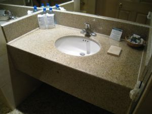 Sunset Yellow G682 Granite Vanity Top for Hospitalty Projects