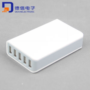 5 Ports USB Travel Charger AC Charger Adapter (MU012) pictures & photos