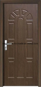 Economical Interior Wooden Rounded MDF PVC Door (EI-P089) pictures & photos