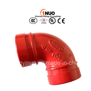 FM/UL Approved Ductile Iron 90 Degree Grooved Elbow pictures & photos