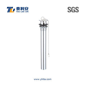Sanitary Ware Chrome Plated Brass Sink Drain with Plug (T1070) pictures & photos