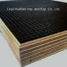 Black/Brown/Anti-Slip Film Faced Plywood with Poplar/Hardwood Core for Construction (HB002) pictures & photos