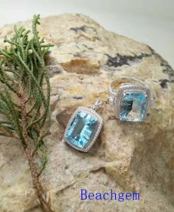 Jewelry Ring/Pendant Set-Natural Topaz in Sterling Silver (S3331) pictures & photos
