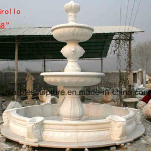 White Carrara Stone Sculpture Water Fountain (SY-F008) pictures & photos