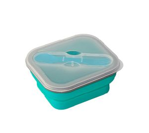 Hot Selling Collapsible Silicone Folding Bowl Double Case Lunch Box pictures & photos