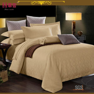 Light Brown Dobby Star Hotel Duvet Cover Set pictures & photos