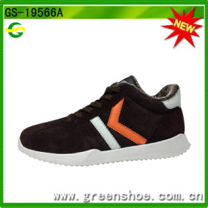 Cheap Customized Fashion Comfortable Fake Fur Men Winter Sports Shoes pictures & photos