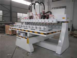 4 Axis Multi-Heads Table Moving with Rotary Axis CNC Router pictures & photos