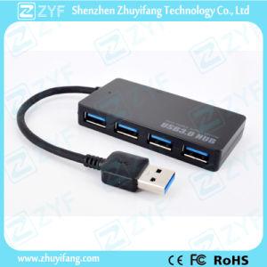 Simple Slim Design 4 Port USB 3.0 Hub (ZYF4123) pictures & photos