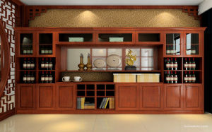 Modern New Design Solid Wood TV Cabinet China Supplier (zk-009) pictures & photos
