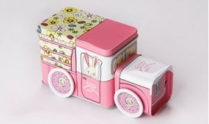 Tin Can with Bus/Car/Train Shape pictures & photos