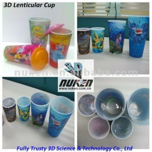 3D Effect Lenticular Printing Plastic PP Cup pictures & photos