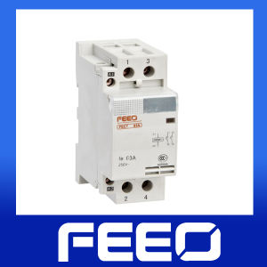 DIN Rail 18mm 2 Pole Magnetic Household Contactor pictures & photos