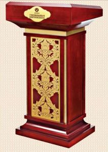 Classic Wooden Rostrum for Hotel Lobby and Restaurant (T-56) pictures & photos