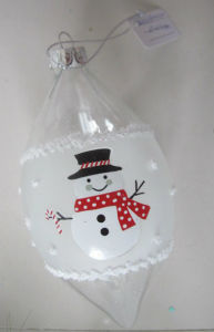 Clear Handmade Christmas Glass Ornaments with Snowman pictures & photos
