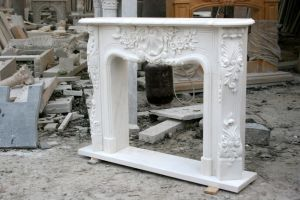White Carrara Antique Hand Carved Marble Fireplace Mantel Sy-Mf325 pictures & photos