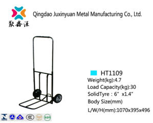 Foldable Hand Truck/Handcart/Trolley with PU Caster (HT1105) pictures & photos