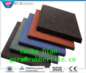 Supply Interlocking Wearing-Resistant Square Outdoor Rubber Tile Sports Rubber Flooring Tile Playground Rubber Tiles pictures & photos