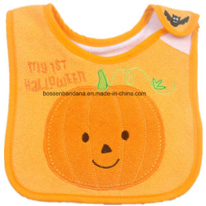 Custom Made Logo Embroidered Christmas Festival Celebration Promotional Customized Cotton Terry Baby Bibs Infant Bibs pictures & photos