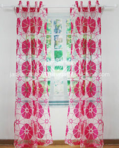 Flocked Voile Grommet Panel for Home Textile pictures & photos