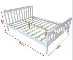 Bedroom Set of Double Bed in White Colour pictures & photos