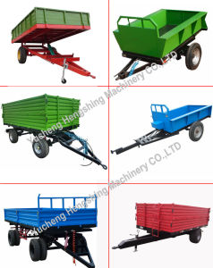 Manufacturer 5 Tons Farm Trailer Tractor Tipper Trailer in Europen Style pictures & photos