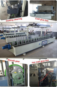 Woodworking PVC Profile Wrapping Machine with Scraping Coating Box pictures & photos
