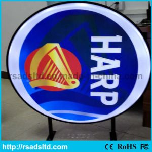Round Plastic LED Vacuum Forming Light Box Advertising Board