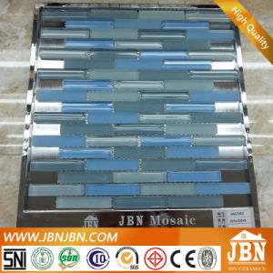 Strip Mix Blue Color 8mm Thickness Glass Mosaic (G857002) pictures & photos