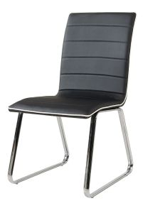 PU Leather and Chrome Metal Dining Chair (CY-114) pictures & photos