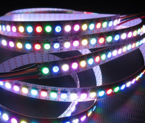 Addressable Apa102 Black White PCB LED Strip 5050 RGB