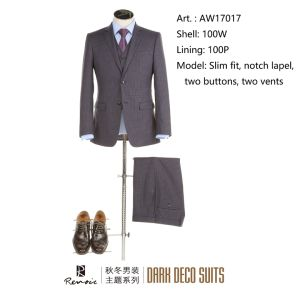 OEM 3 Pieces Slim Fit Men′ S Leisure Suit pictures & photos