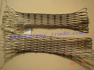 Zoo Stainless Steel Rope Mesh Fence/ Ss Flex Woven Mesh pictures & photos