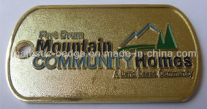 Customized Gold Plating & Zinc Die Cast Process Badge 029 pictures & photos