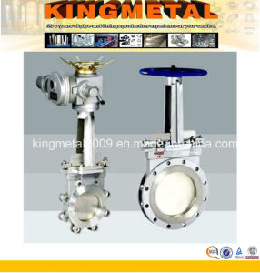 Electrically Operated Flanged Knife Gate Valve pictures & photos