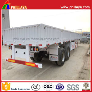 Phillaya High Quality Tri Axle Side Wall Semi Trailer for Sale pictures & photos