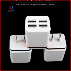 2015 New Type 4 Ports USB Charger Adapter pictures & photos