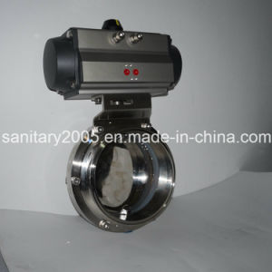 Pneumatic Aluminum Actuator with Clamp Butterfly Valve