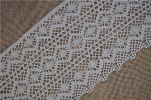 Wide Cotton Crochet Lace Used for Curtain Lace pictures & photos