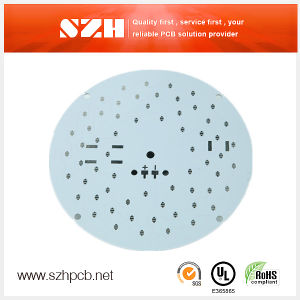 Aluminium Base Material LED PCB with White Soldermask pictures & photos