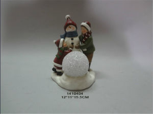 Polyresin Christmas Home Decoration Snowman Sculpture pictures & photos