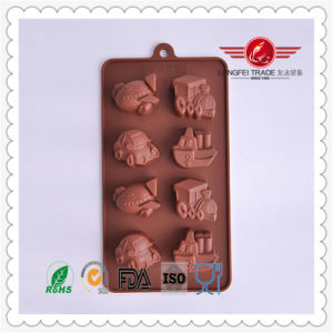 Brown Car Shaped Silicone Cake Mould pictures & photos