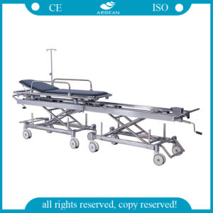 AG-HS011 Endoscope Cart Electric Transport Hospital Stretcher Prices pictures & photos