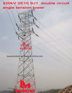 Megatro 220kv 2e10 Sj1 Double Circuit Angle Tension Tower pictures & photos