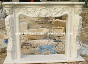 Beijing White Marble Carved Fireplace pictures & photos