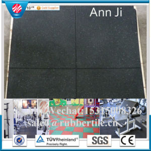 Recycled Rubber Flooring Tile, Eco-Friendly Elastic Patio Rubber Tile Paver pictures & photos
