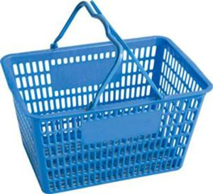 Plastic Shopping Basket with Handle pictures & photos