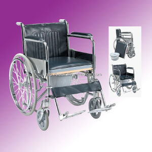 ISO Commode Type Wheelchair (ME240) pictures & photos
