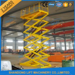 2t 5m Cargo Hydraulic Stationary Scissor Lifter 220V pictures & photos