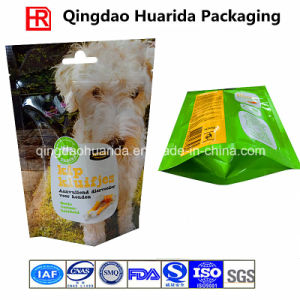 Plastic Bottom Gusset Packing Bag with Zipper for Dog Food pictures & photos